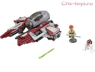 Конструктор BELA Space Wars Перехватчик джедаев Оби-Вана Кеноби 10575 (Аналог LEGO Star Wars 75135) 220 дет.