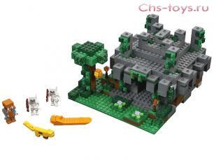 Конструктор LELE Minecraft Храм в джунглях 33053  (Аналог LEGO Minecraft 21132) 608  дет.
