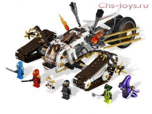 Конструктор LELE Ninja Сверхзвуковой самолет 31041 (Аналог LEGO Ninjago 9449) 645 дет.