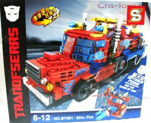 Конструктор SY Transformers Оптимус прайм SY951 604 дет.
