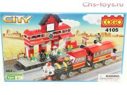 """Конструктор COGO City """"Железная дорога"""" 4105 (Реплика LEGO City) 426 дет."""
