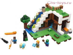 Конструктор S My World База на водопаде SY924 (Аналог LEGO Minecraft 21134) 758 дет.