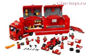 Конструктор Lepin Speed Champions Феррари F14 и грузовик Скудерии Феррари 21010 (Аналог LEGO Speed Champions 75913) 914 дет