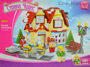 Конструктор Ausini Страна чудес: Новогодний магазин игрушек 24809