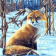 Картина по номерам Лисица в снегу E106