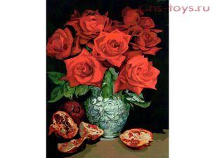 Картина по номерам Богатый красный E643