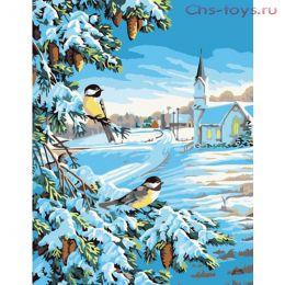Картина по номерам Морозный день E067