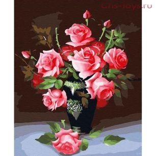 Картина по номерам Розовые розы E031