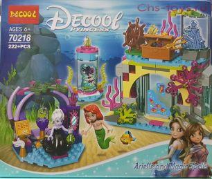 Конструктор Decool Princess Ариэль и магическое заклятье 70218 (Аналог LEGO Disney Princess 41145) 222 дет