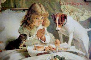 Картина по номерам Молитва Чарльз Бартон Барбер R-2355